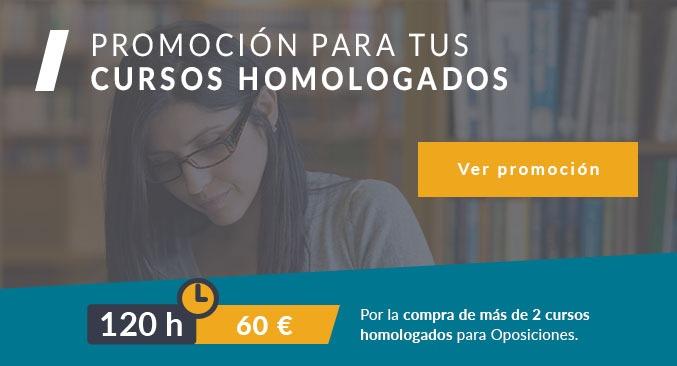 Cursos homologados promoción cursos 120 horas descuento