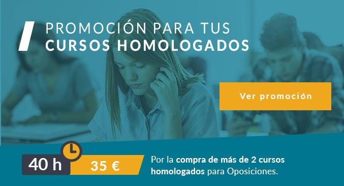 Cursos homologados promoción cursos 40 horas descuento
