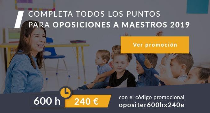 Oposiciones maestros promoción descuento