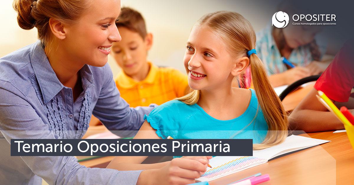 Temario Oposiciones Primaria