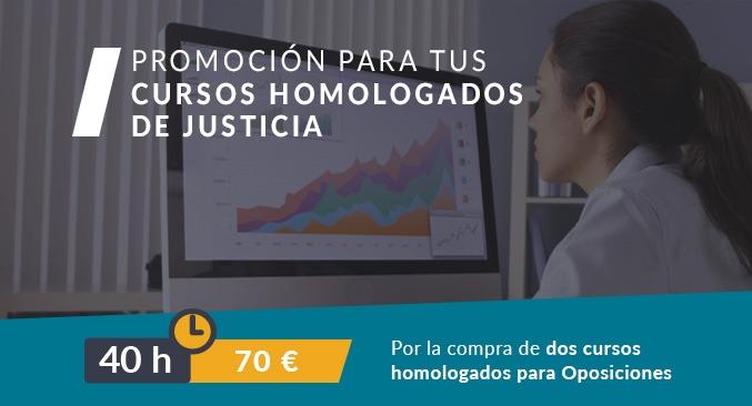 cursos homologados justicia descuento