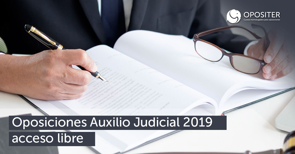 Oposiciones Auxilio Judicial 2019