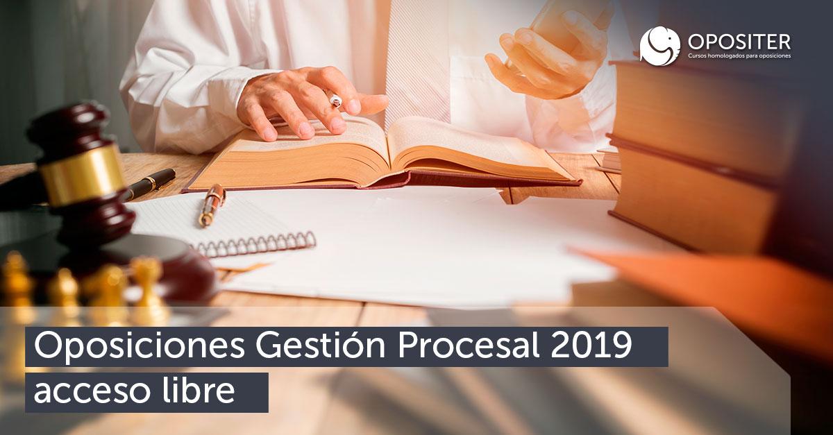 Oposiciones Gestión procesal 2019 acceso libre