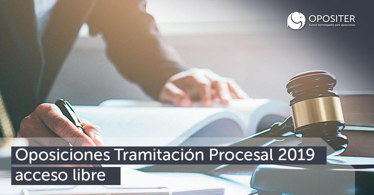 Oposiciones Tramitación Procesal 2019 acceso libre al Cuerpo Administrativo de Justicia