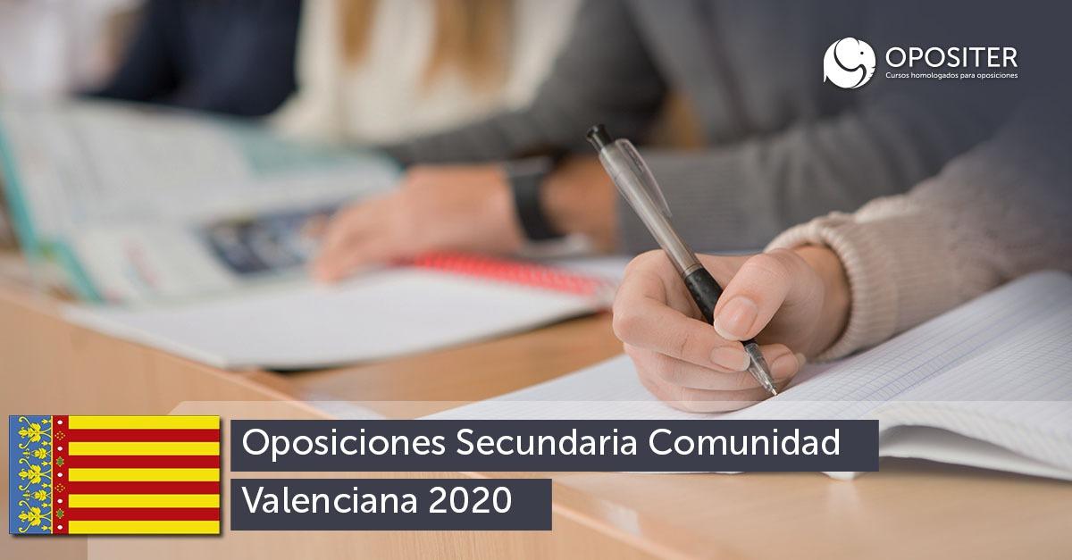 Novedades sobre la convocatoria de las Oposiciones de Secundaria en la Comunidad Valenciana