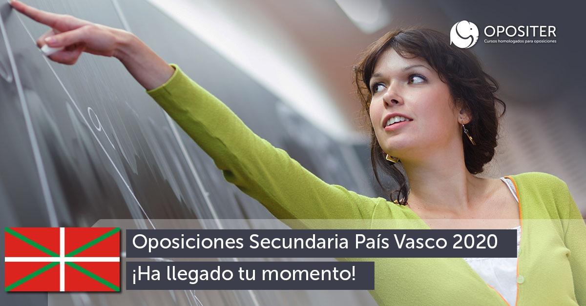 Noticias sobre las Oposiciones de Secundaria en el País Vasco para 2020