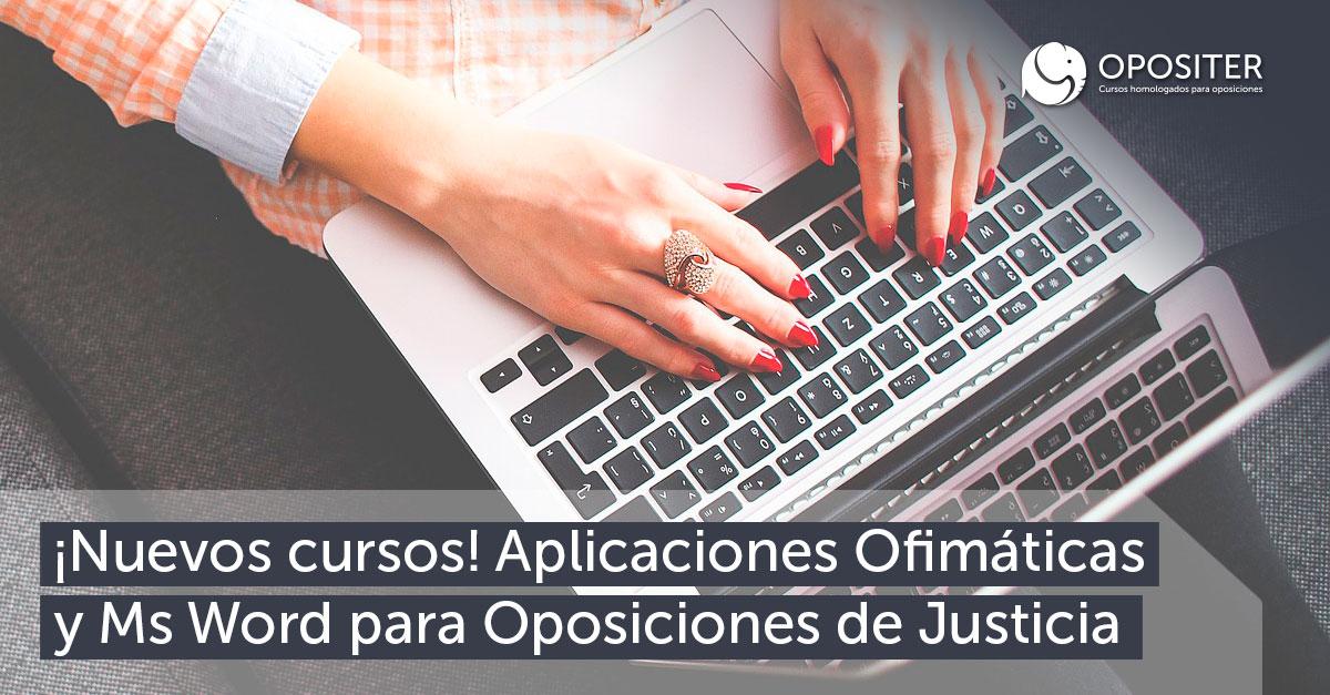 nuevos cursos ofimatica word justicia