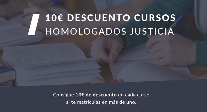 10€ de descuento en tus cursos para justicia