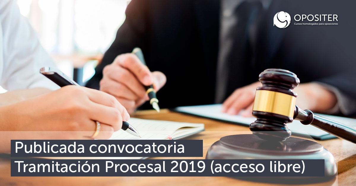 Publicada convocatoria Tramitación Procesal 2019 (acceso libre)