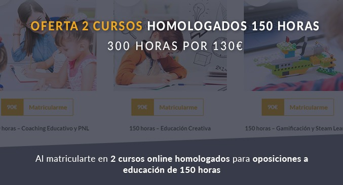 Oferta 2 cursos homologados