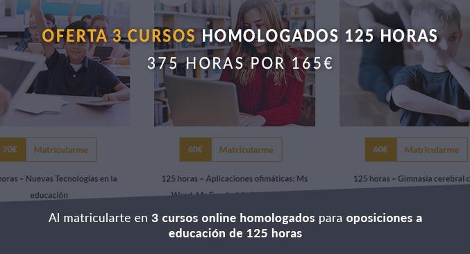 Oferta 3 cursos homologados