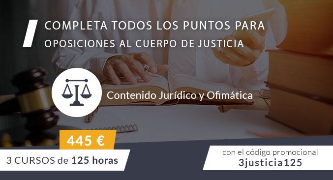 Oferta en cursos de Contenido Jurídico y Ofimática