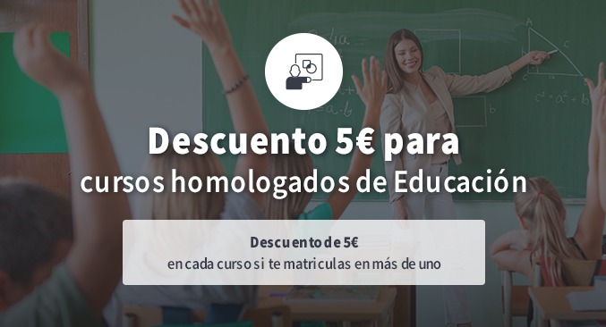 Descuento 5€ Educación