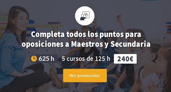 625 horas maestros y secundaria