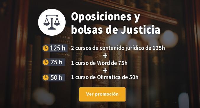 Pack cursos para oposiciones y bolsas de justicia