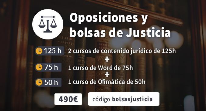 Oposiciones y bolsas de Justicia